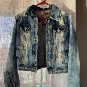 Juniors distressed Hippie Laundry jacket size M
